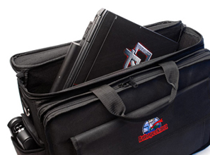 The Autogeek Executive Briefcase can easily swallow a full size lap top