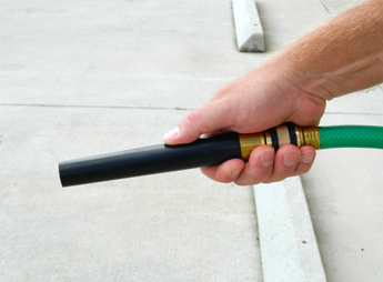 Bend and Spray Water Nozzle allows you to stop water flow without a shut off valve!