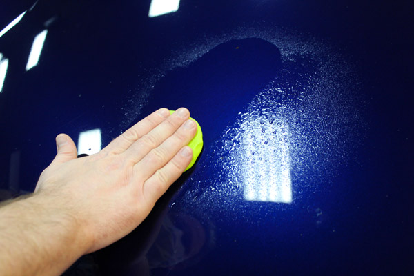 Rub the BLACKFIRE Aggressive Poly Clay across the surface of your paint until it glides smoothly. See Ya, contamination!