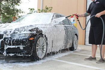 In just seconds, BLACKFIRE Foam Soap has coated your entire vehicle in tons of suds!
