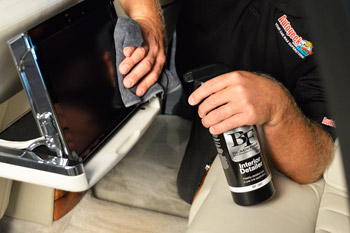 BLACKFIRE Interior Detailer can be used on all interior surfaces.