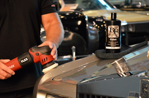 Blackfire Polish can be used with a white polishing pad.