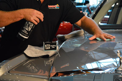 Keep your paint clear of embedded contaminants with BLACKFIRE Poly Clay!