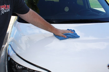 Use plenty of thick, plush towels for a safe wash!