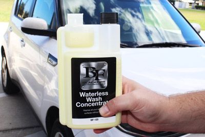 BLACKFIRE Waterless Wash Concentrate dilutes 1:48 with water