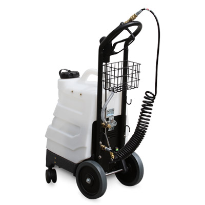 The Mytee Big Boss is the only rechargeable solution sprayer!