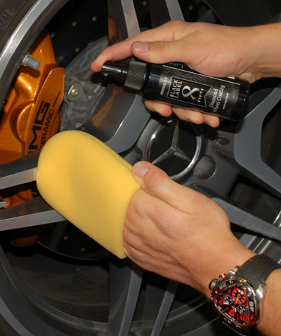 Black Label Diamond Wheel Coating is incredibly easy to apply