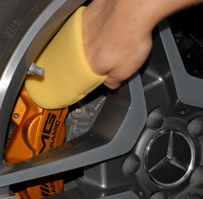 Black Label Diamond Wheel Coating works great on brake calipers