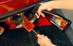 BLACKFIRE APC cleans exhaust pipes and exterior surfaces.
