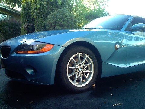 2003 BMW Z4 detailed with Pinnacle Ultra Poly Clay, Meguiars Quick Detailer, Porter Cable 7424, Dodo Juice Lime Prime, and Supernatural Wax.