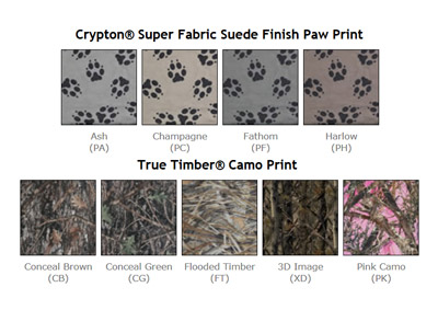 Canine Covers Paw Prints And Camo