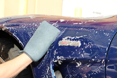 Cobra Clay Mitt can be used with a car shampoo as part of a wash or alone with a lubricant!