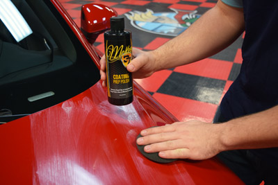 Before applying McKee's 37 Paint Coating, polish the surface first using McKee's 37 Coating Prep Polish