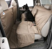 The Coverall protects the floor and the backs of the front seats.