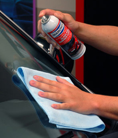 Diamondite Glass & Surface Cleaner removes heavy road film and is safe on tinted windows