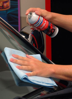 Diamondite Shield provides a durable coating for automotive glass, repelling water and other airborne contaminants