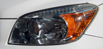 Detailers All In One Headlight Restoring Polish makes headlights look new!