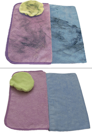 McKee's 37 Microfiber Cleaner works better than laundry detergent to clean microfiber towels, bonnets, and pads.