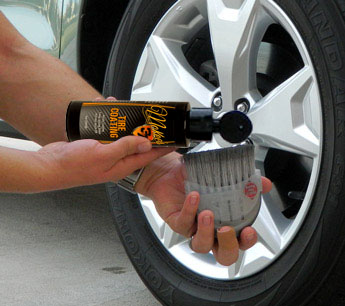 Apply McKee's 37 Tire Coating with a soft bristle brush