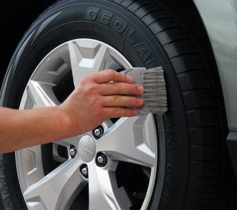 McKee's 37 Tire Coating dries to the touch