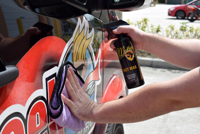 Fast Wax is safe to use on vinyl wraps!