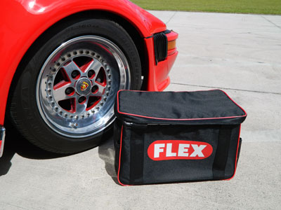 The FLEX Deluxe Polisher Bag has enough room to transport multiple car polishers and all your gear!