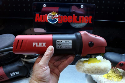 The FLEX PE8 Kompakt Rotary Polisher only weighs 4 lbs!