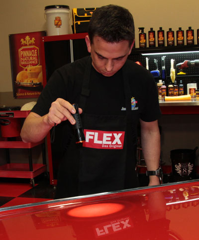 FLEX Swirl Finder Light illuminates swirl marks!