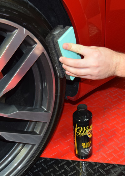 Gloss Tire Gel dries to the touch