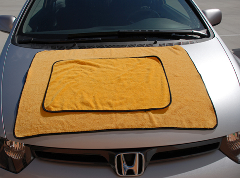 The Gold Plush XL Microfiber Towels can be used for buffing, drying, and general detailing.