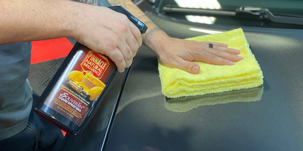 The Cobra Gold Dual-er Microfiber Towel is the perfect towel for Pinnacle Souveran Spray Wax!