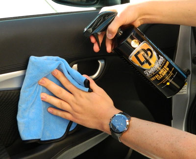 Use the Microfiber Interior Detailing Towel with DP Total Interior Cleaner!