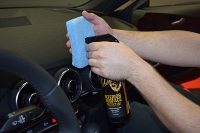Interior Surface Protectant is water based and non greasy