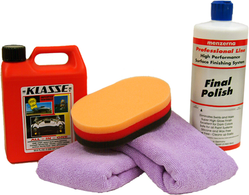 Menzerna and Klasse German-made car care products.