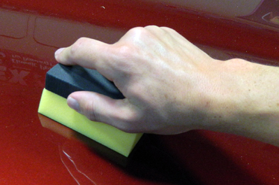 The Lake Country Coating Applicator is easy to hold on to!