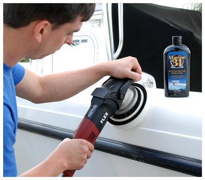 Marine 31 All-In-One Gel Coat Polish & Wax removes light oxidation while waxing at the same time!