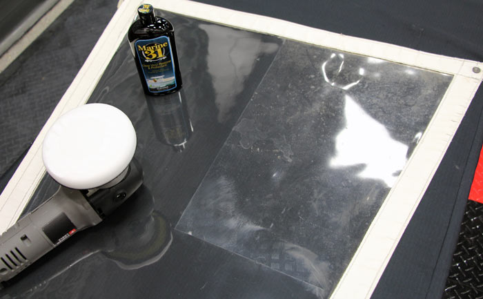 Marine 31 Clear Vinyl Restorer and Protectant removes yellowing with minimal effort