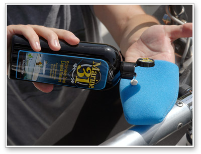 Marine 31 Stainless Steel Liquid Sealant provides durable protection against the elements