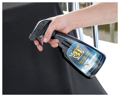 Marine 31 Fresh Scent Cabin Odor Eliminator works well on carpet and upholstery too!