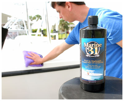 Marine 31 Port to Starboard Rinseless Wash with Carnauba Wax shines as it cleans!