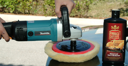 Use the Makita 9227C to polish, compound, and restore all types of paint.
