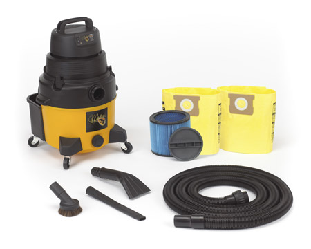 McKee's 37 8 Gallon 2.5 Peak HP Wet/Dry Auto Detailing Vacuum includes everything you need to clean up any spill, wet or dry!