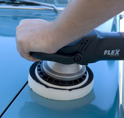 Use the FLEX XC 3401 Orbital Polisher to remove swirls with Menzerna Medium Cut Polish 2500.
