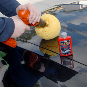The Mothers Powerball 4Paint is a soft, open-cell foam polishing ball.