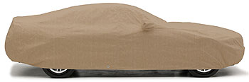 A custom BLOCK-IT 380 cover hugs your vehicle's finish to keep it clean and dry during storage.
