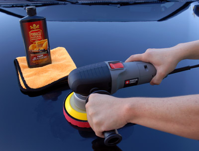 Pinnacle Liquid Souveran Car Wax can also be applied by machine using a soft foam finishing pad