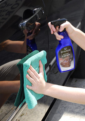 Optimum Car Wax is a spray wax made with real carnauba and