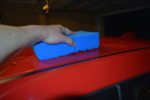 Optimum Waffle Wash Pad absorbs extreme amounts of water - making it safer on your paint.