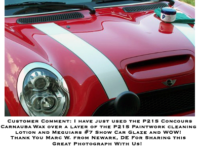 P21S Concours carnauba wax over a layer of P21s Paintwork Cleansing lotion