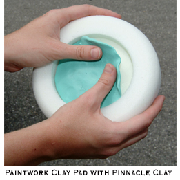 The Paintwork Clay Pad allows you to clay your vehicle with your Porter Cable 7424.